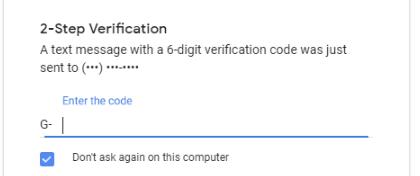 Setup 2 factor authentication