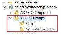 Designate security groups