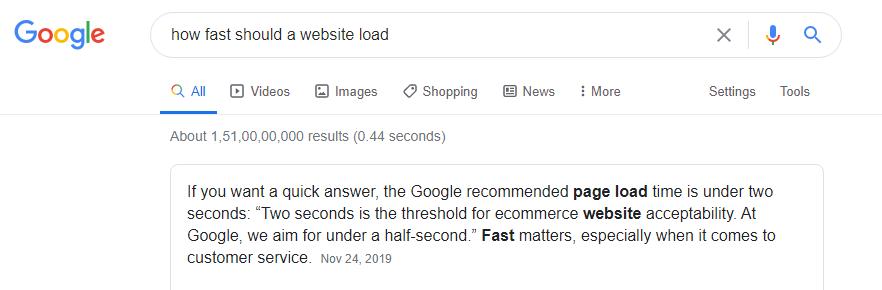 how should website load
